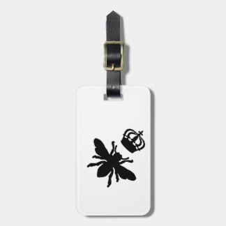Vintage Chic Queen Bee Silhouette Luggage Tag