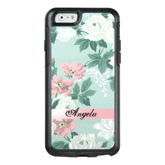 Vintage Chic Shabby Flowers-Personalized OtterBox iPhone 6/6s Case