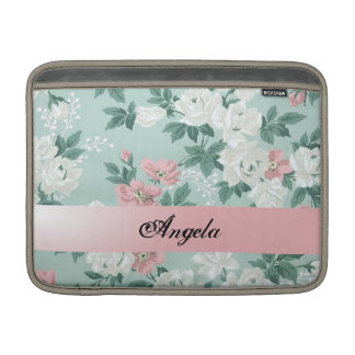 Vintage Chic Shabby Flowers-Personalized Sleeve For MacBook Air