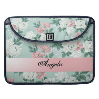 Vintage Chic Shabby Flowers-Personalized Sleeve For MacBooks
