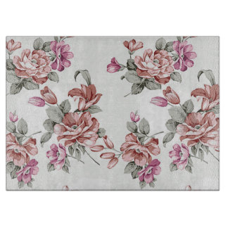 Vintage Chic  Shabby Girly Flowers Cutting Board