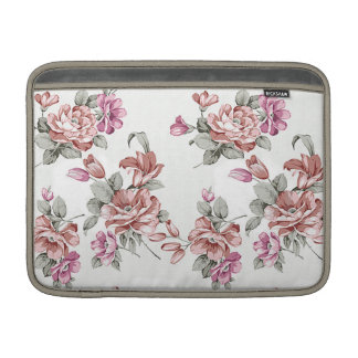 Vintage Chic  Shabby Girly Flowers MacBook Sleeve