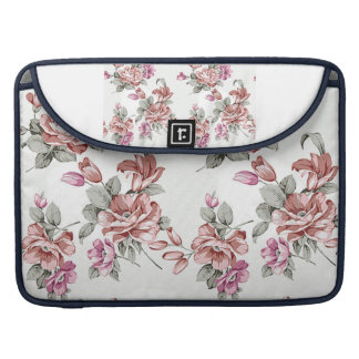 Vintage Chic  Shabby Girly Flowers Sleeve For MacBook Pro