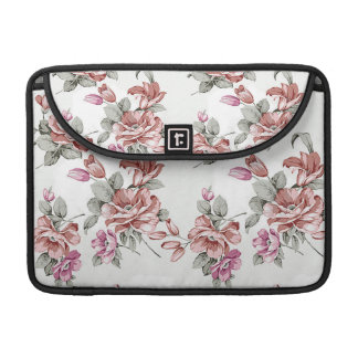 Vintage Chic  Shabby Girly Flowers Sleeve For MacBooks