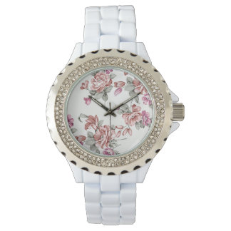 Vintage Chic  Shabby Girly Flowers Wrist Watches