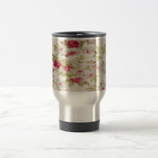 Vintage Chic  Shabby Girly Roses Travel Mug