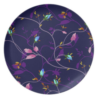 Vintage Chic Small Rosebuds Pattern Party Plates