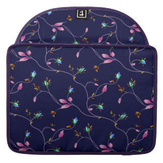 Vintage Chic Small Rosebuds Pattern Sleeve For MacBook Pro