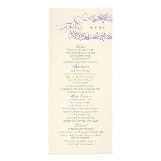 Vintage Chic Wedding Wedding Menu Purple Announcement