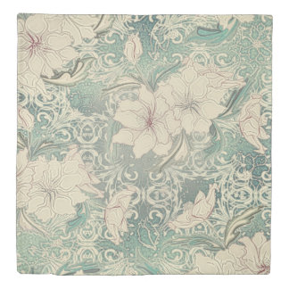 Vintage Chic Winter Garden Floral Duvet Cover