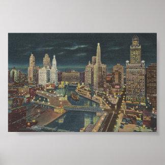 Vintage Chicago 1952 Poster