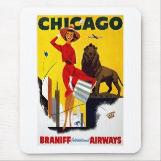 Vintage Chicago Advertisement Mouse Pad