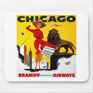 Vintage Chicago Advertisement Mousepads