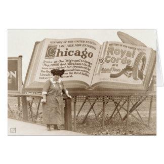 Vintage Chicago Billboard Card