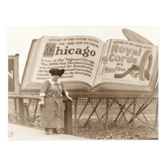 Vintage Chicago Billboard Postcard