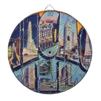 Vintage Chicago City Dartboard