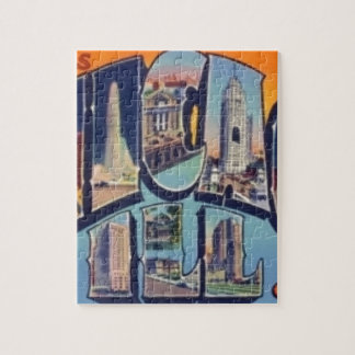 Vintage Chicago City Jigsaw Puzzle