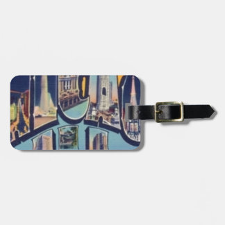 Vintage Chicago City Luggage Tag
