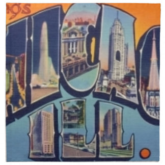 Vintage Chicago City Napkin