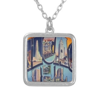 Vintage Chicago City Silver Plated Necklace