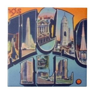 Vintage Chicago City Tile