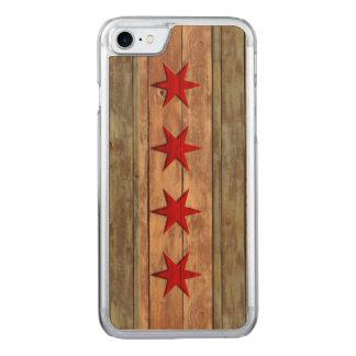 Vintage Chicago Flag Distressed Carved iPhone 7 Case
