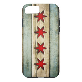 Vintage Chicago Flag Distressed Wood Look iPhone 8/7 Case