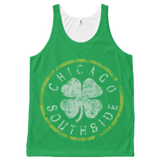 Vintage Chicago Irish Southside All-Over-Print Tank Top