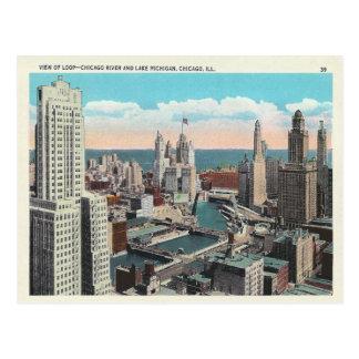 Vintage Chicago Loop Postcard