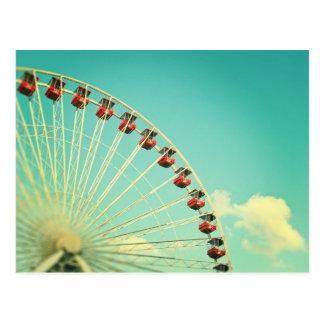 Vintage Chicago Navy Pier Ferris Wheel Postcard