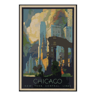 Vintage Chicago Travel Posters 24x36