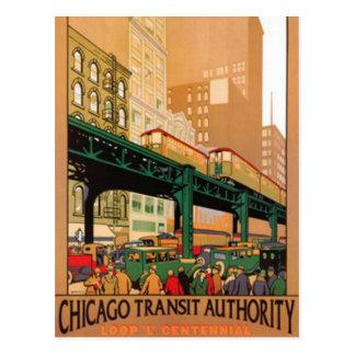 Vintage Chicago, USA - Postcard
