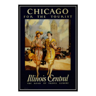 Vintage Chicago, USA - Poster