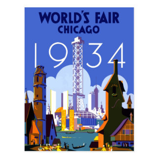 Vintage Chicago World's Fair 1934 Travel Postcard
