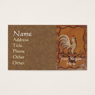Vintage Chicken Business Cards