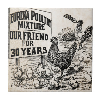 Vintage Chicken Feed Advertising Ceramic Tile