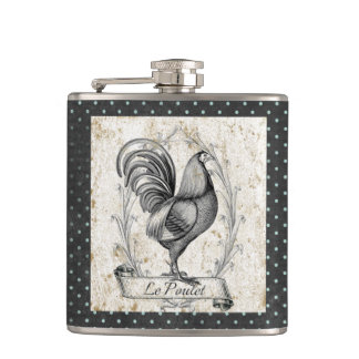 Vintage Chicken French Flask