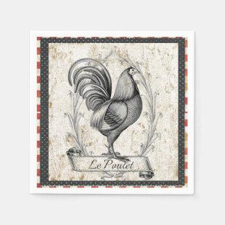 Vintage Chicken Paper Napkins