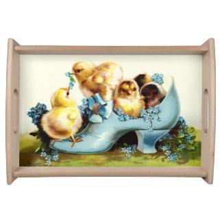 Vintage Chicks Easter Gift Serving Tray