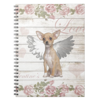 Vintage chihuahua - Valentines day Notebook