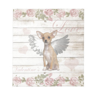 Vintage chihuahua - Valentines day Notepad