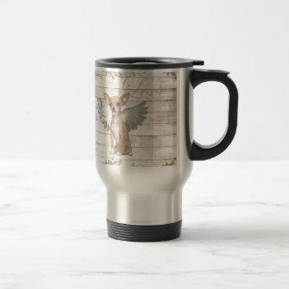 Vintage chihuahua - Valentines day Travel Mug