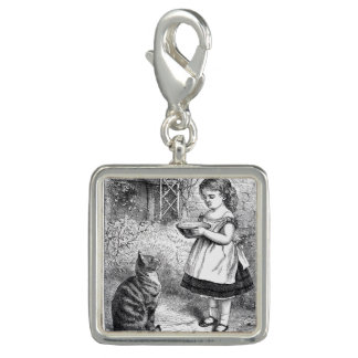 Vintage Child and Cat Charm