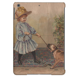 Vintage Child and Dog IPad Air Barely There Case iPad Air Cover