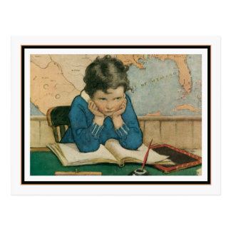 Vintage Child in Class by Jessie Willcox Smith Postcard