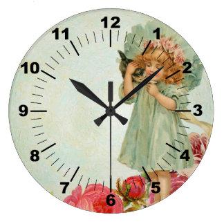 Vintage child kitty clock