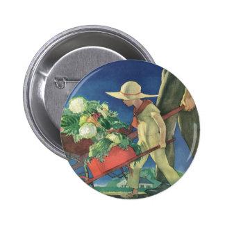 Vintage Child Organic Gardening Victory Garden Pinback Buttons