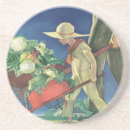 Vintage Child, Organic Gardening; Victory Garden Coaster