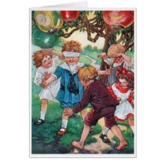 Vintage - Children at Play, Card