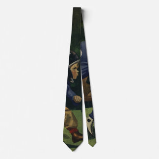 Vintage Children, Boys Playing Football, Sports Tie